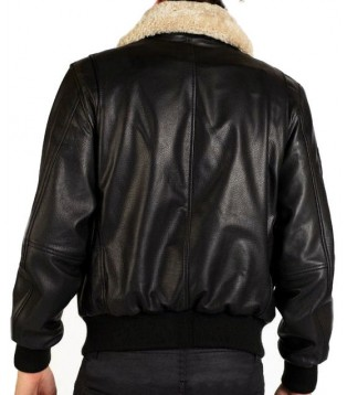 Man leather jacket model Aviateur