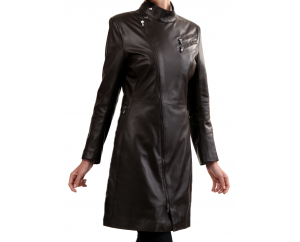 Woman's leather coat model Julia