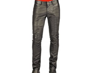 Man leather pant black model Reeve