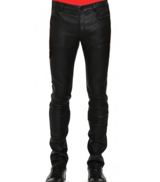 Pantalon cuir stretch homme Mercy