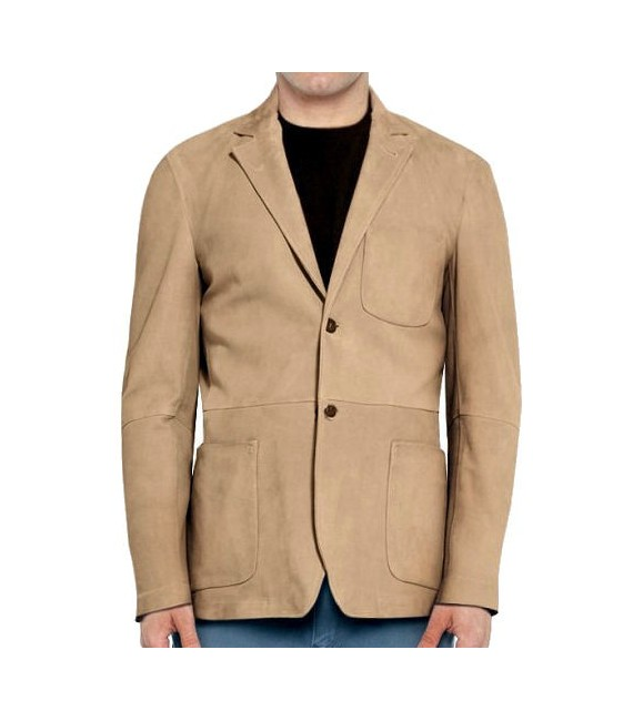 veste blazer homme daim peau velours beige cuir mod le r gis haut de gamme fabrication fran aise. Black Bedroom Furniture Sets. Home Design Ideas