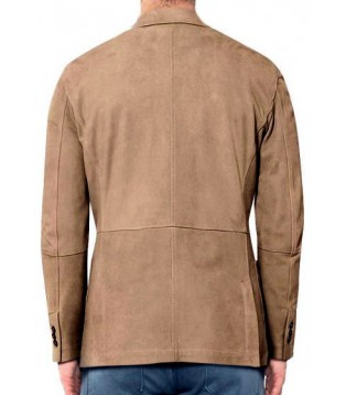 man blazer leather model Lao