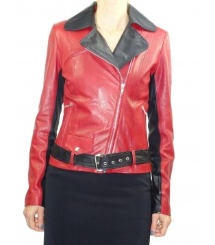 Woman's leather jacket model Eva
