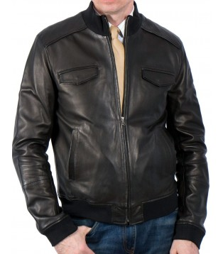 Man leather jacket model Riviere