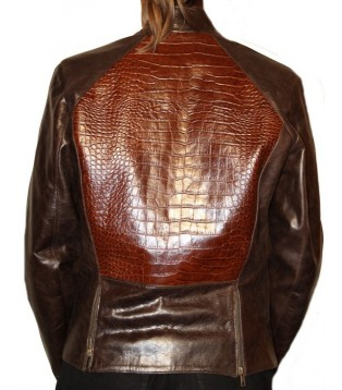 Woman's leather jacket model Ismira