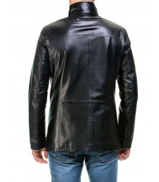 Man leather blazer model Valentino