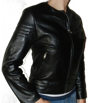 Woman's leather jacket model Atia