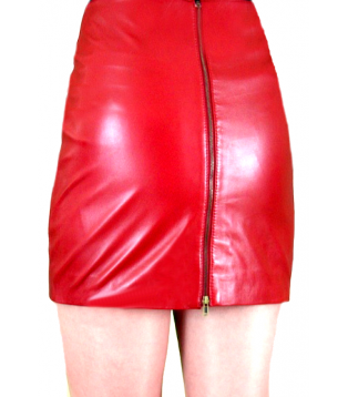 Leather skirt model Moda