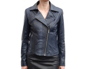 Woman's leather jacket model Marine