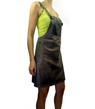 Leather dress model Mita