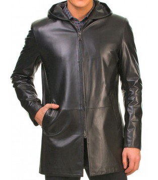 Man leather blazer model Mario