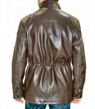 man leather coat model Thierry