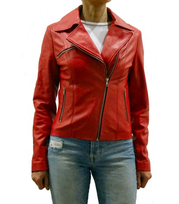 Woman's leather jacket model Demi