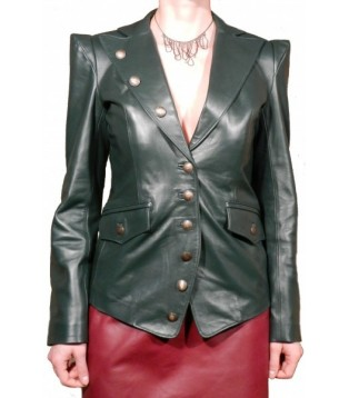 Woman's leather jacket model Pussy