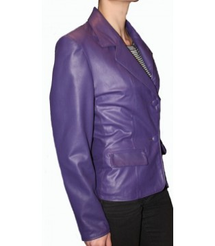 Woman's leather jacket model Lina