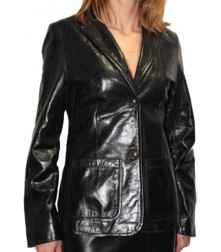 Woman's leather jacket model Jenny