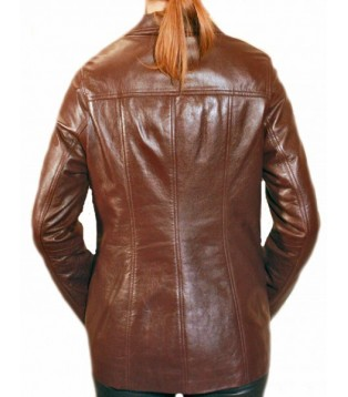 Woman's leather jacket model Irène