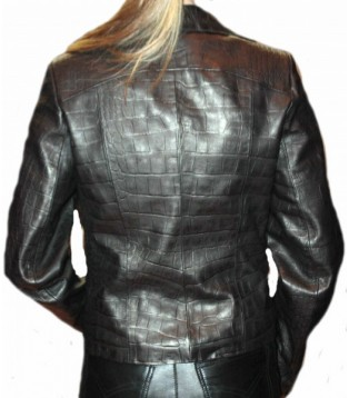 Woman's leather jacket model Ines
