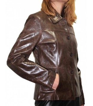 Woman's leather jacket model Fridya