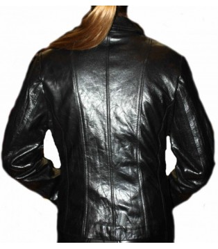 Woman's leather jacket model Felipa