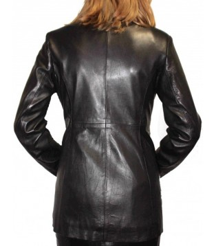 Woman's leather jacket model Elodie