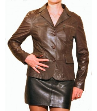 Woman's leather jacket model Dora