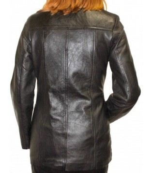 Woman's leather jacket model Celia
