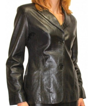 Woman's leather jacket model Caissay