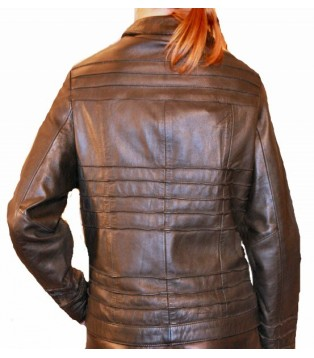 Woman's leather jacket model Alexiane