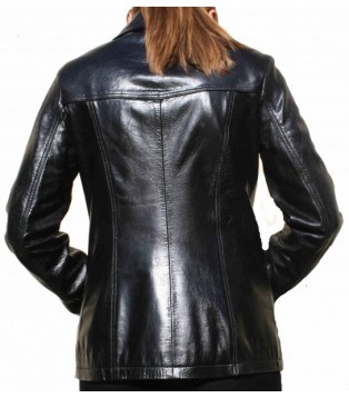 Woman's leather jacket model Apoline