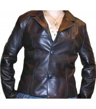 Woman's leather jacket model Analisa