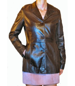 Woman's leather jacket model Anita
