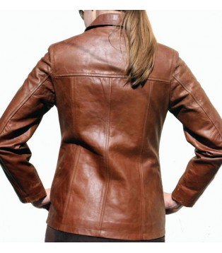 Leather jacket for women model Ambre