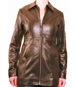 Woman's leather jacket model Alida