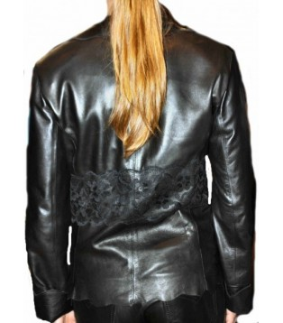 Woman's leather jacket model Dasha