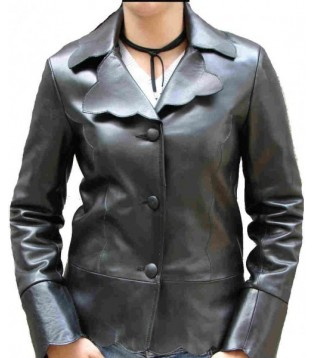 leather jacket for woman model Laura