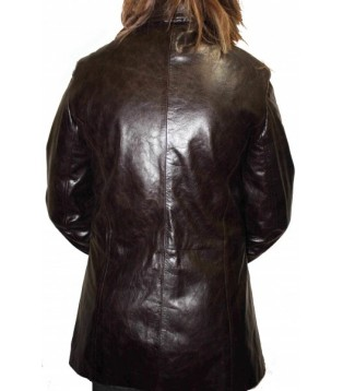 Woman's leather coat model Gab