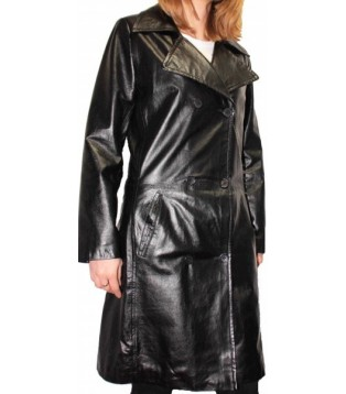 Woman's leather coat model Trendy