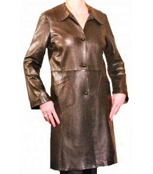 Woman's leather coat model Alix