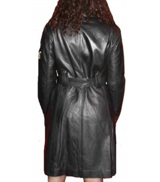 Woman's leather coat model Olivia