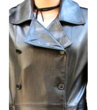 Woman's leather coat model Margo