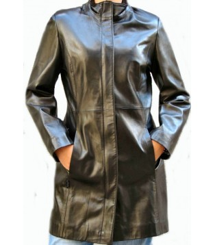 Woman's leather coat model Istrelle