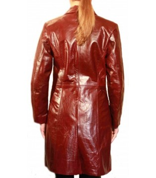 Woman's leather coat model Esther