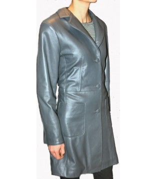 Woman's leather coat model Dalya