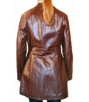Woman's leather coat model Adeline