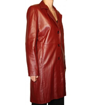 Woman's leather coat model Gabrielle