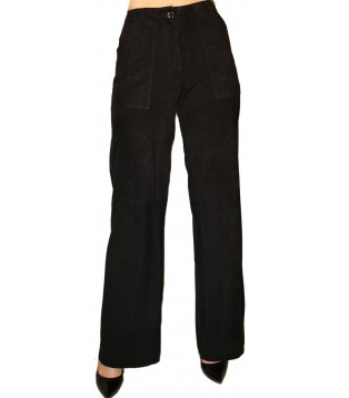 Woman leather pant model Flore